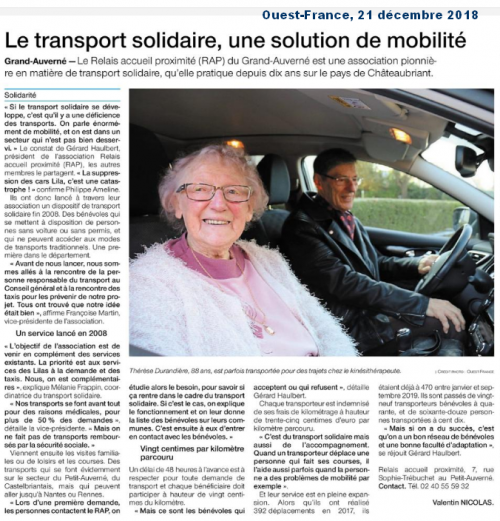 Article « Transport solidaire »